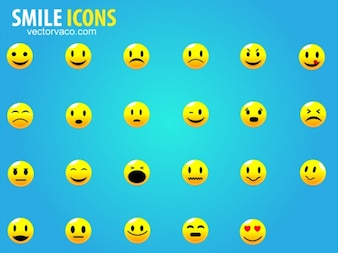 smile icon vector set