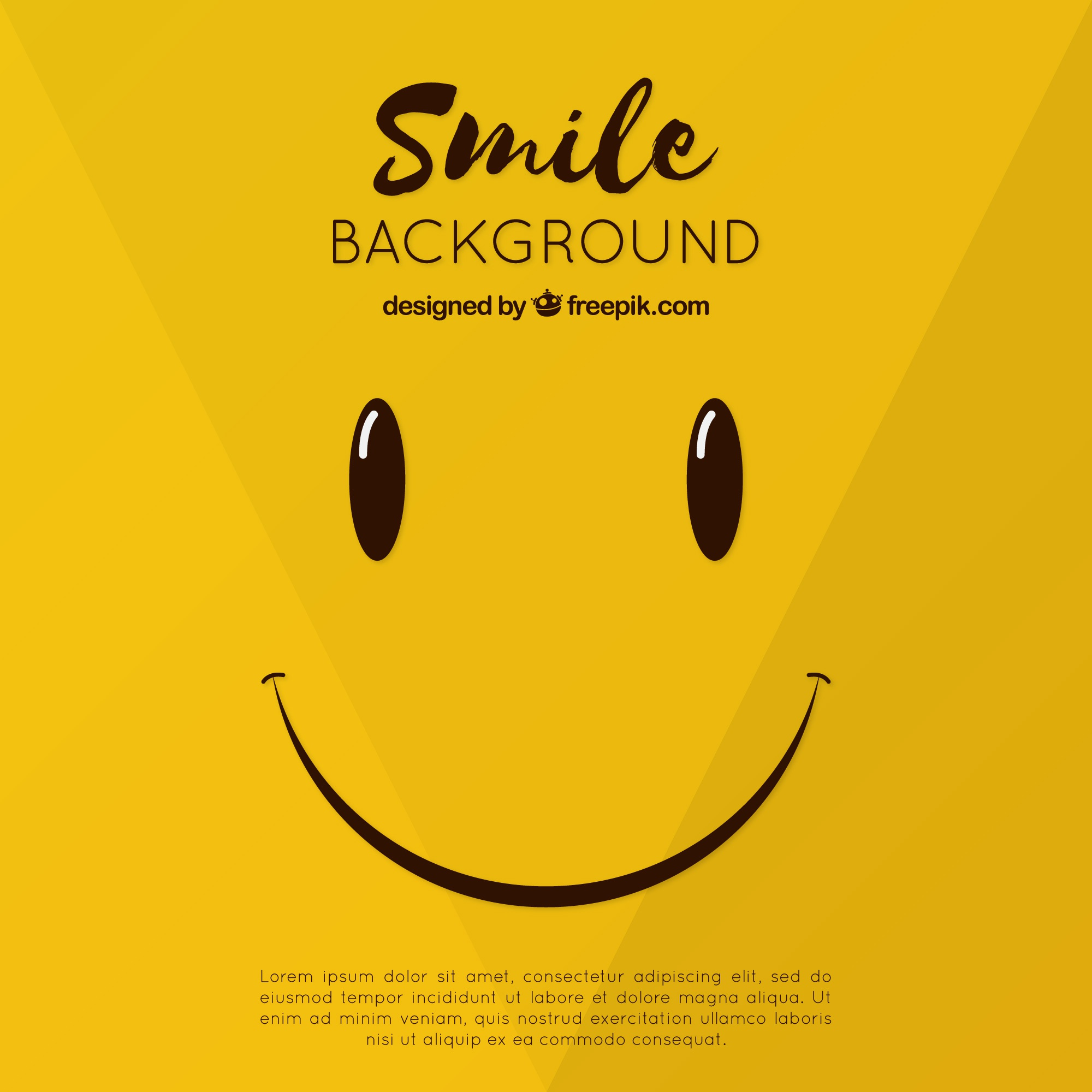 Smiley background in flat design