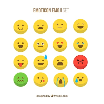 Smiley emoticons set