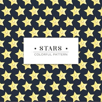 Smiley stars pattern