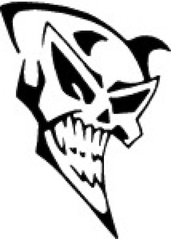 Smiling demon skull