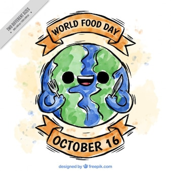 Smiling earth ready for world food day