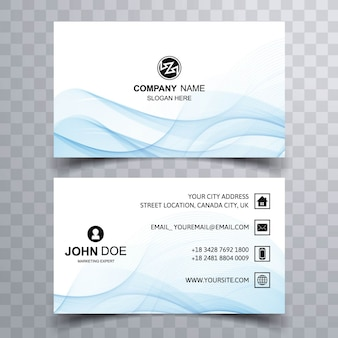 Smokey light blue business card