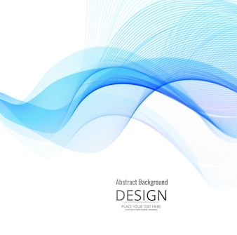 Smooth blue wavy background design