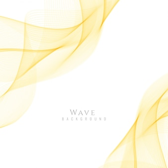 Smooth yellow wavy background
