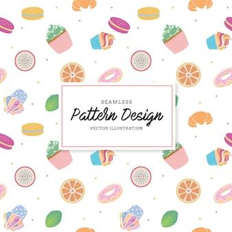 Snack pattern background