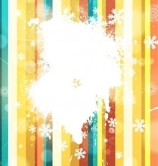 Snow frame stylization greeting curve