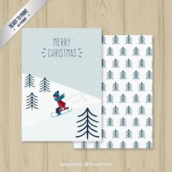 Snow sledge card