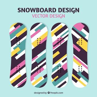 Snowboard in modern design
