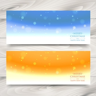 Snowflakes abstract banners