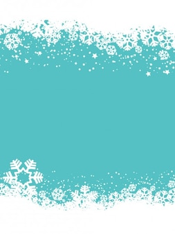 Snowflakes blue christmas background