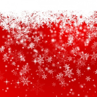 Snowflakes on a red christmas background