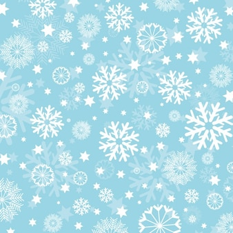 Snowflakes on light blue background