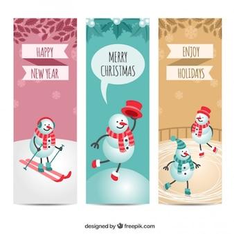 Snowman banners