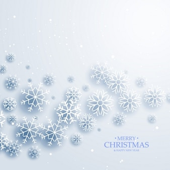 Snowy christmas background with snowflakes