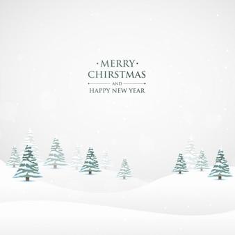 Снежное Рождество фоне природы