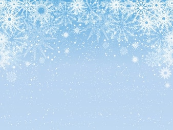 Snowy light blue background
