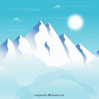 Snowy mountains background
