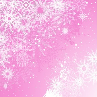 Snowy pink christmas background