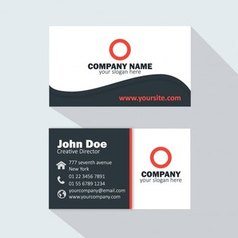Sober business card