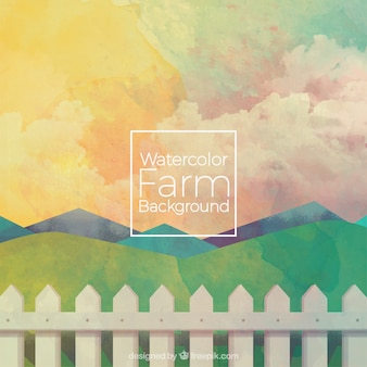 Sober watercolor farm background