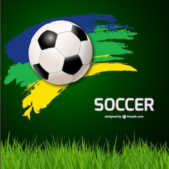 Soccer ball background and grass