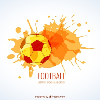 Soccer ball with watercolor splashes