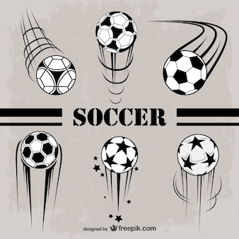 Soccer balls badges