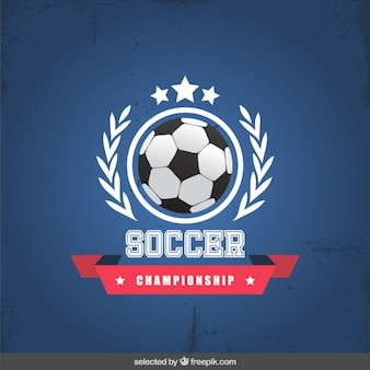 Soccer championship badge