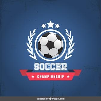 Soccer championship badge
