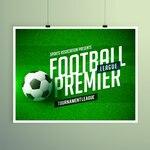 Soccer championship presentation flyer