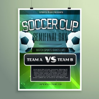 Soccer cup semifinal poster
