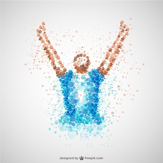Soccer player victory concept vector