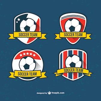 Soccer team badges