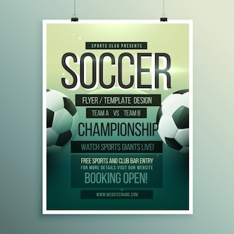 Soccer tournament brochure template