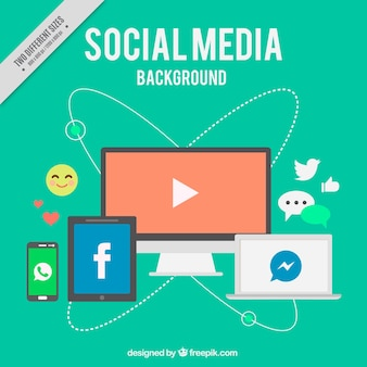 Social media background and devices