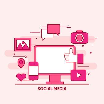 Social media background design