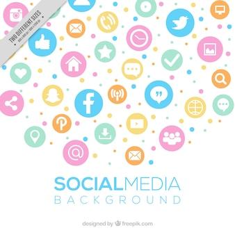 Social media background in pastel colors