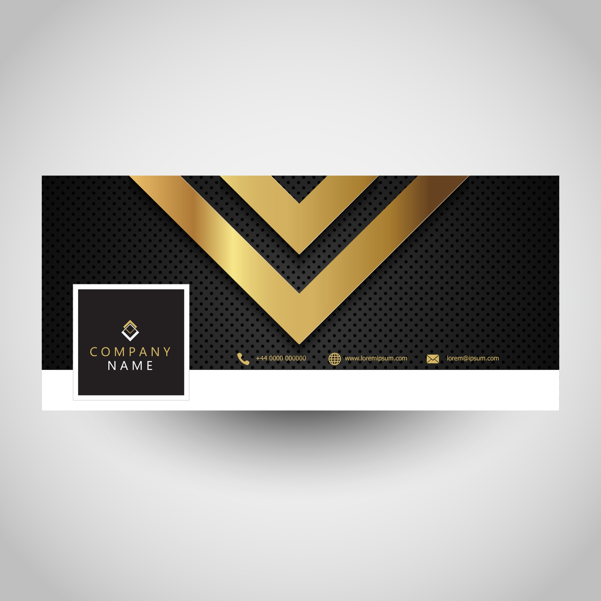 Social media cover with abstract metallic design