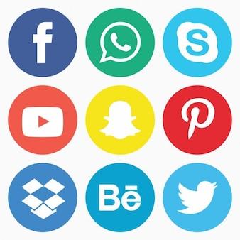 ソーシャルメディアのアイコンパック