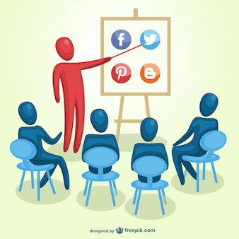 Social media marketing training vector