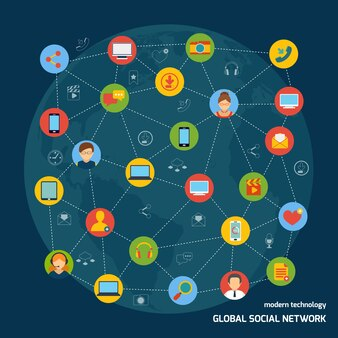Social network background design