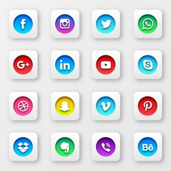 Social network buttons collection