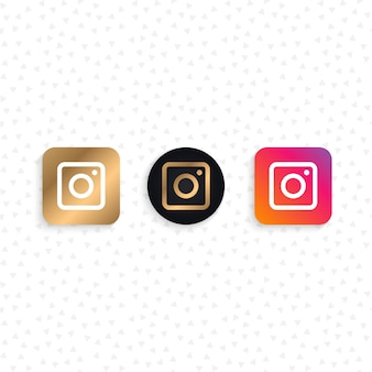 Social networking camera icons