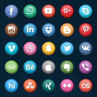 Social networks buttons collection