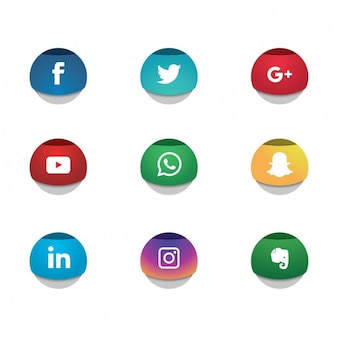 Social networks icons collection