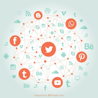 Social networks in a geometric shape