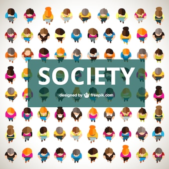 Society in top view