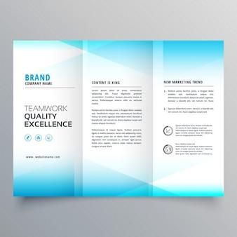 Soft blue geometric brochure