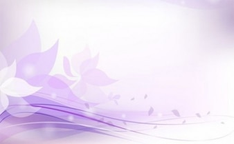 soft floral abstract background vector